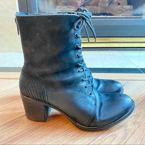 Combat style boots with heels